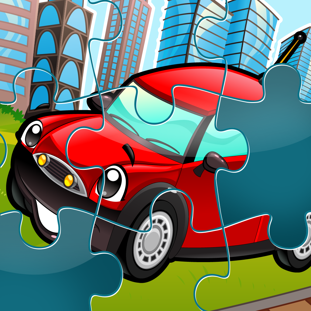 City Puzzles - Car jigsaw puzzle game for children and parents with the world of vehicles